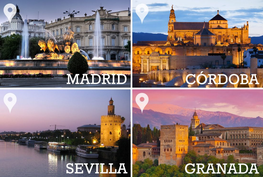 Madrid - Córdoba - Sevilla - Granada - Madrid, 6 nights